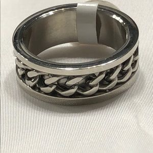 🌺 Quality Stainless Steel Ring Band Size 9